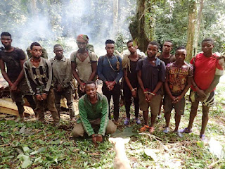 Poachers Nabbed Red-handed While Roasting Killed Animals At A Park In Cross River (Photos)