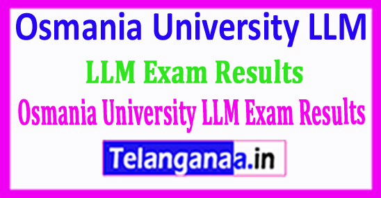 Osmania University LLM Exam Results 2018 Download