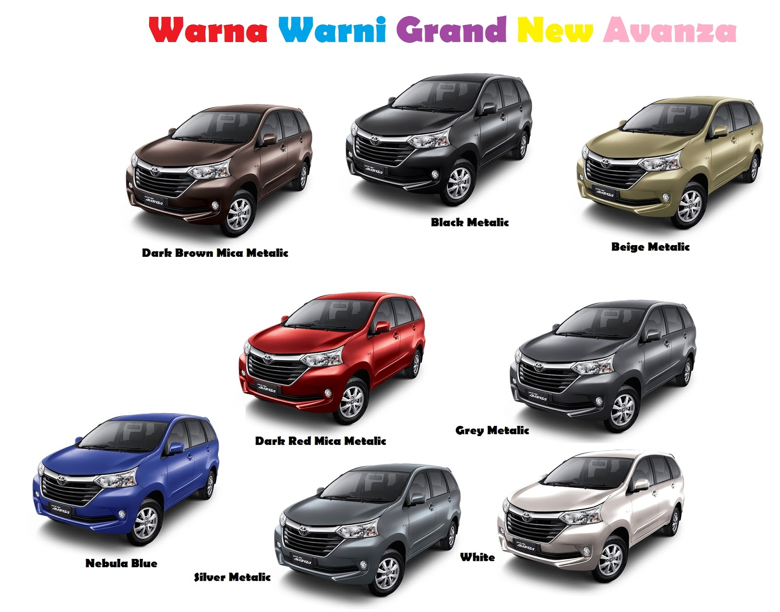 warna grand new avanza dark brown veloz 2015 dan mendaki kemuning