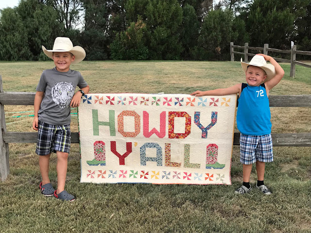 Howdy Y'all Quilt Designed By Thistle Thicket Studio Using Spell It With Moda Letters. www.thistlethicketstudio.com