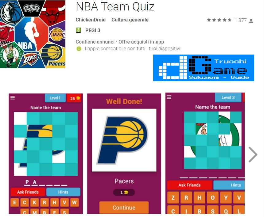 Soluzioni NBA Team Quiz | Tutti i livelli risolti con screenshot soluzione