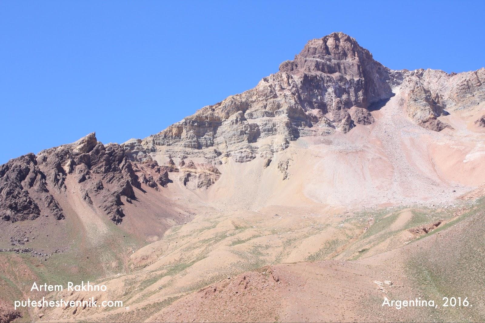 Вершина горы в Аргентине