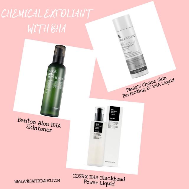 produk-produk chemical exfoliant BHA