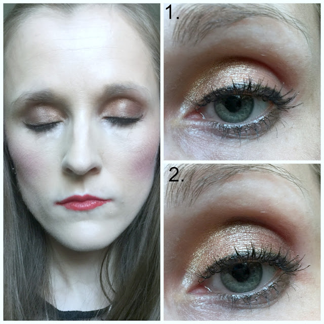 george am to pm eyeshadow palette look