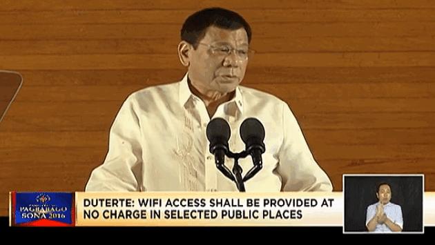 Free WiFi Philippines, Duterte