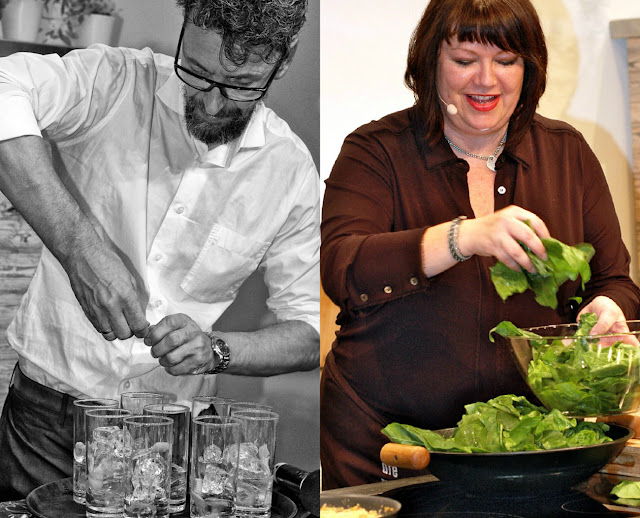 Voller Einsatz: Kochshow auf der Frankfurter Buchmesse 2015.