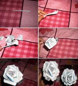 Anggidest Cara Membuat Bunga Mawar Dari Koran Bekas