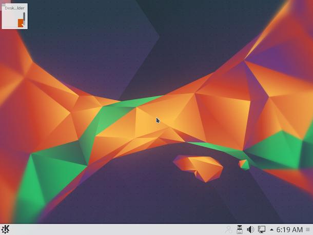 Kubuntu 16.04のデスクトップ