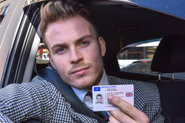 Man's driving licence with photo of himself aged 11