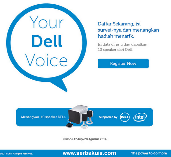 Kuis Survey Berhadiah 10 Speaker Dell