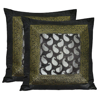 "Brocade Silk Sofa Cushion Cover Decorative LargeThrow Pillows Protector 24"" x 24"""