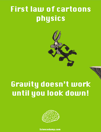 Humor sains fisika gravitasi