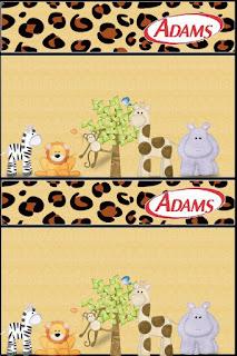 Etiquetas de Chicles Adams de La Selva de Juguete para imprimir gratis.