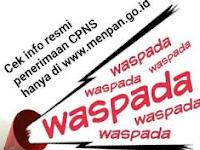 WASPADALAH !!! JADWAL CPNS 2016 PALSU