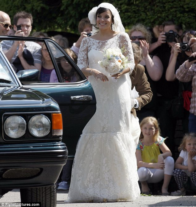What A Beautiful Bride! Lily Allen Looks Lovely In Lace In