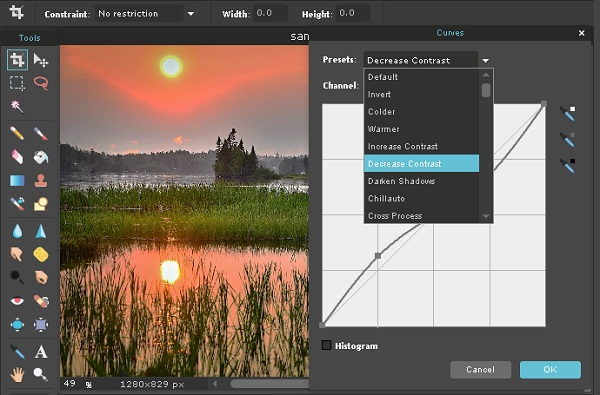 Tool Curves Foto Editor Online