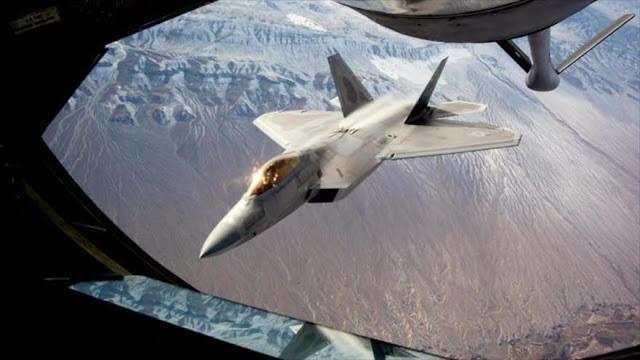 El F-22 estadounidense deja de ser invisible en Siria