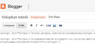 cara membuat sitemap blog secara cepat