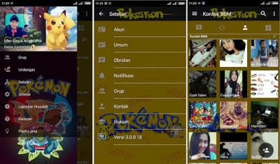bbm modifikasi pokemon go terbaru