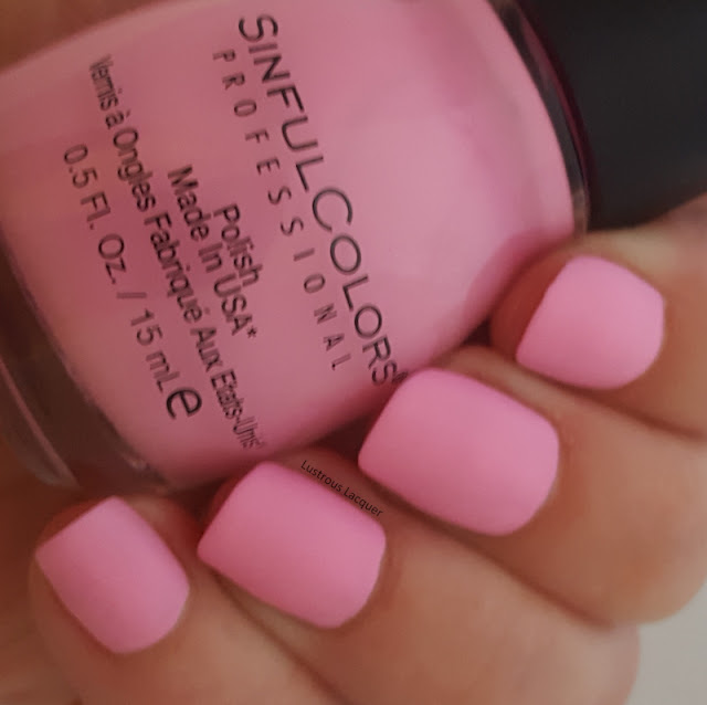 Bubble-gum-pink-nail-polish-with-a-matte-finish