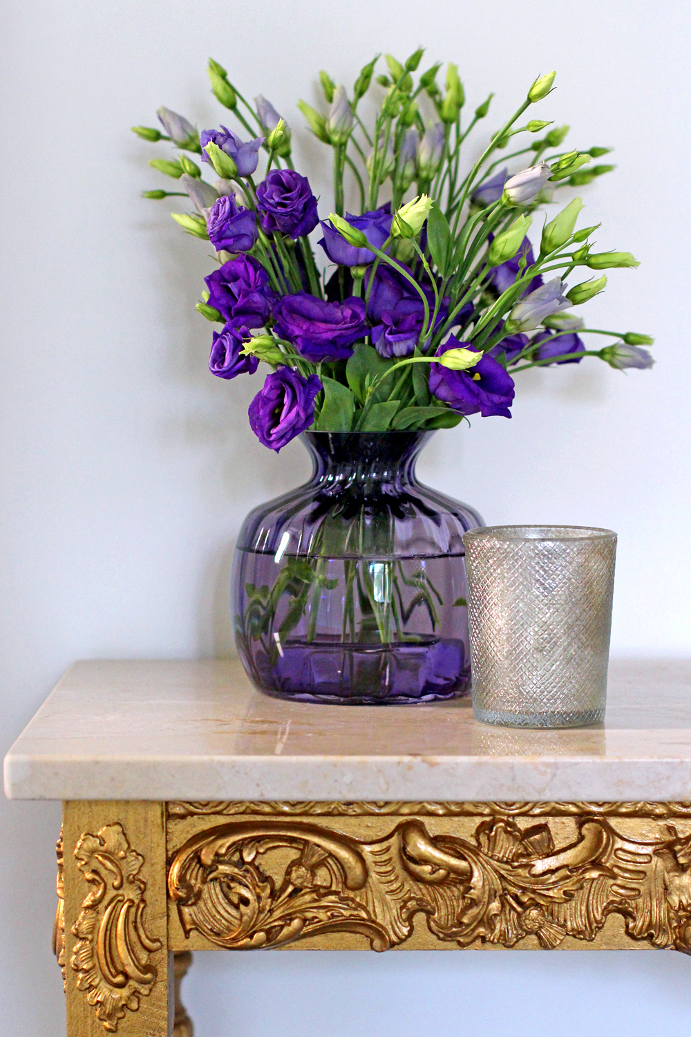 Dartington Crystal Cushion Small Amethyst Vase - UK style & interiors blog