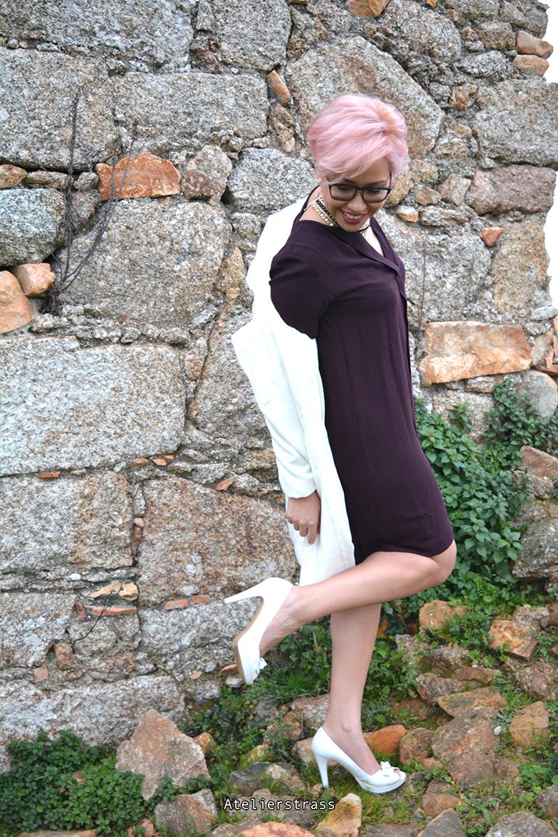 vestido con tacones