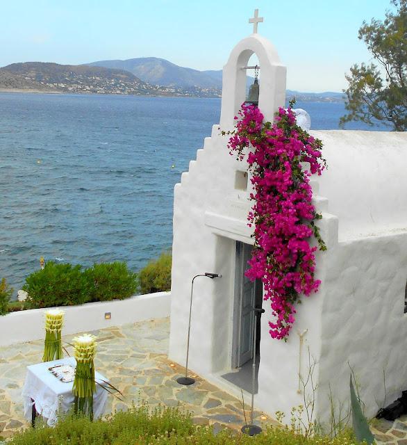 GREEK WEDDING FLOWERS : ISLAND GALLERY WEDDINGS BY ROSETTA