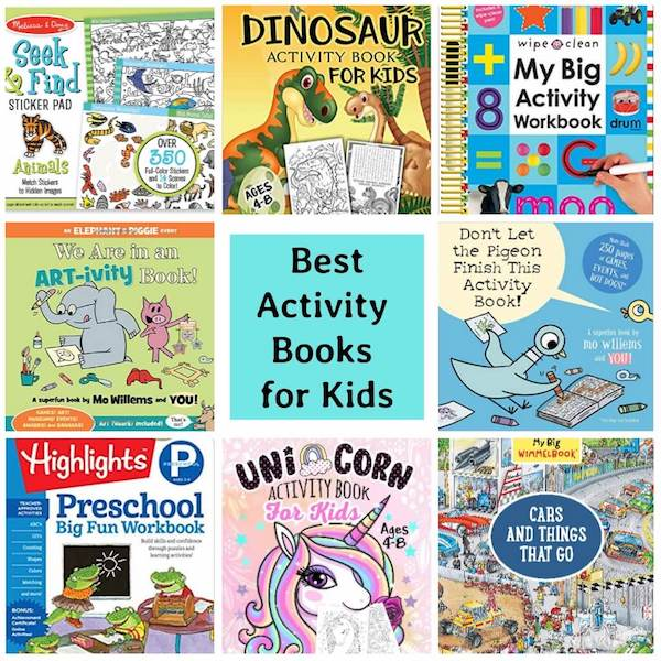 Books to keep kids busy at home