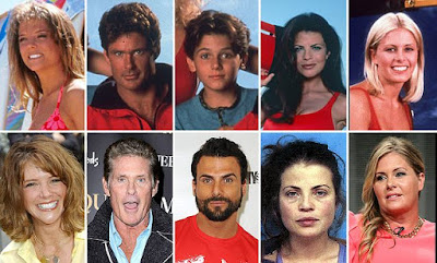 Baywatch stars, Then and Now phoots