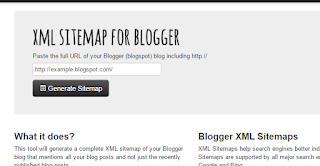 Sitemap for Blogger / Blogger Sitemap, Image One