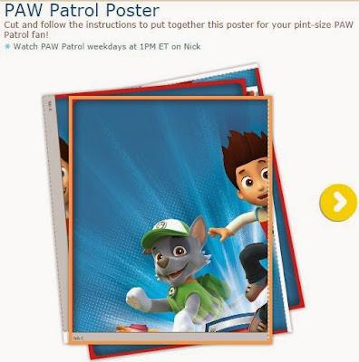 Free Printable Paw Patrol Poster.