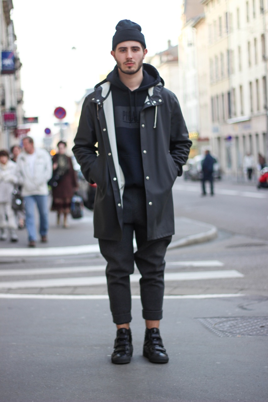 Rain Coat Season Mens Street Style Done N Done