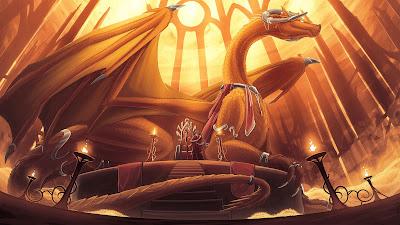 Papel de Parede Dragão Guerreiro Fantasia Arte