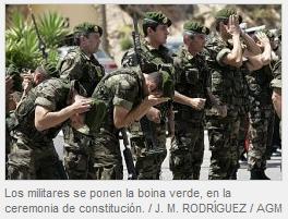 Boinas Verdes  Boinas Verdes de la armada española. 45cbb7b6d1a