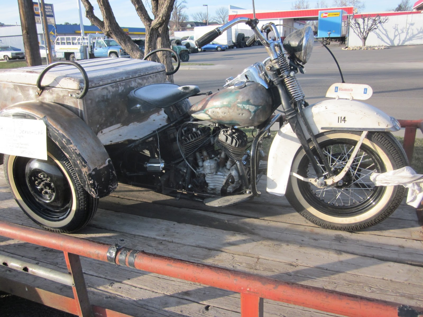 Oldmotodude 1955 Harley Davidson Service Car For Sale 7 500 At