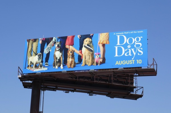 Dog Days film billboard