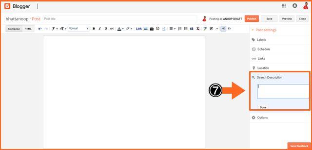 Blogger Blog में Search Description Enable कैंसे करें All Post के लिए