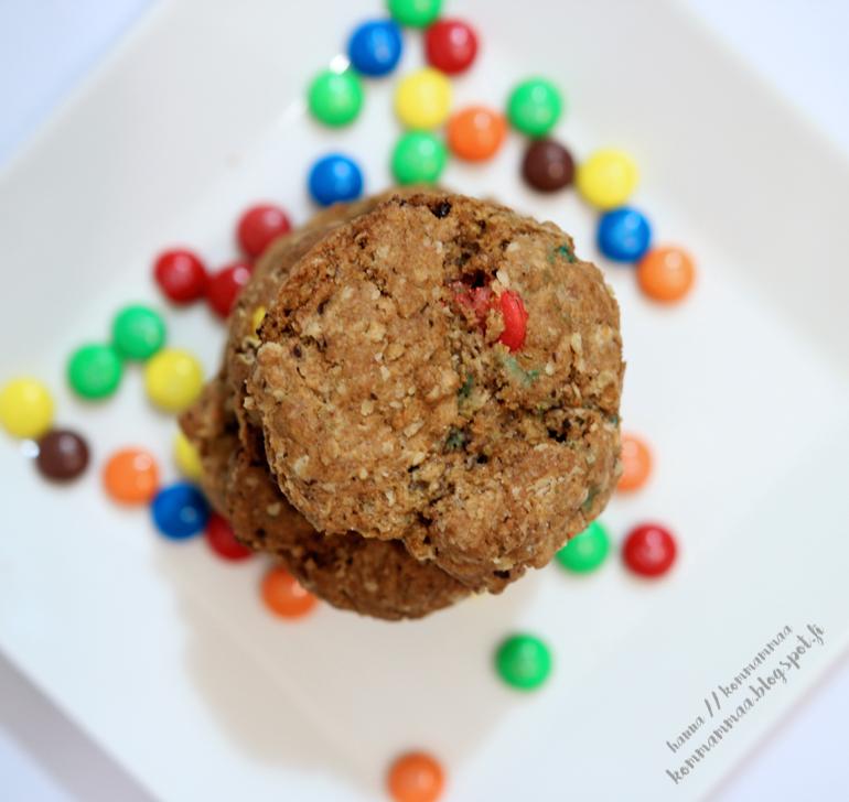 cookie mix in the jar lahja purkissa m&m cookies keksit diy keksiaines joulukalenteri perheblogit