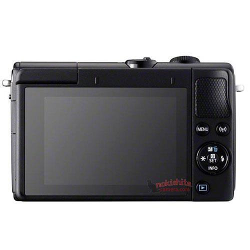 Canon EOS M100, черный, вид сзади