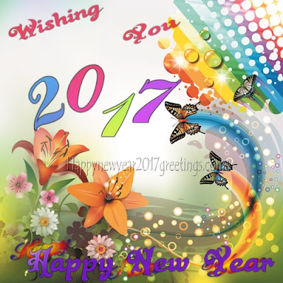 Happy new Year 2017 Colorful Cards