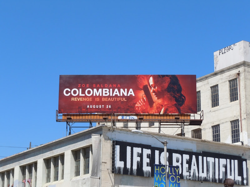 Colombiana movie billboard