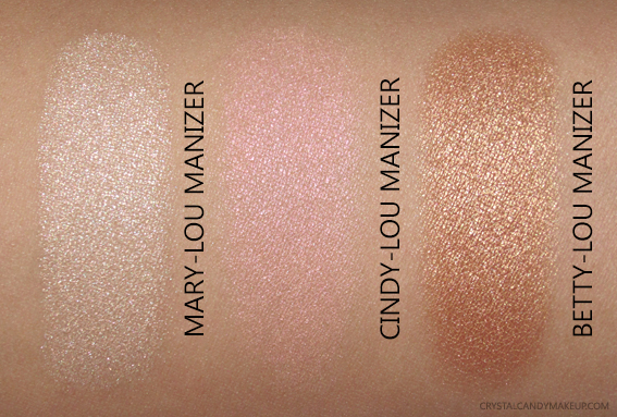The Balm The Manizer Sisters Highlighters Swatches