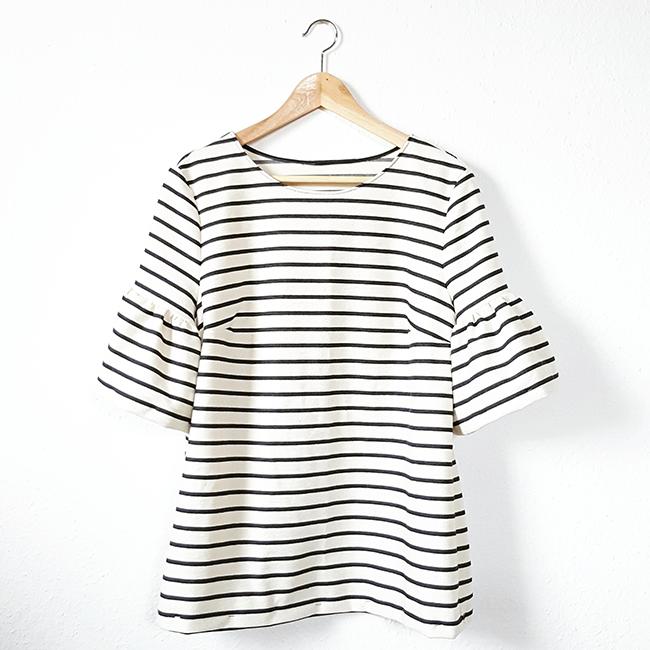 stripes, Streifen, nähen, sewing, DIY, JCrew, bellsleeves, Glockenärmel