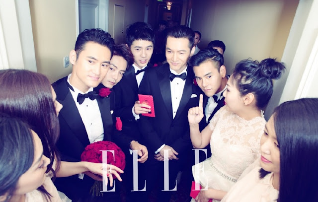 Hu Ge, Eddie Peng and Ma Tianyu as Yuan Hong's groomsmen