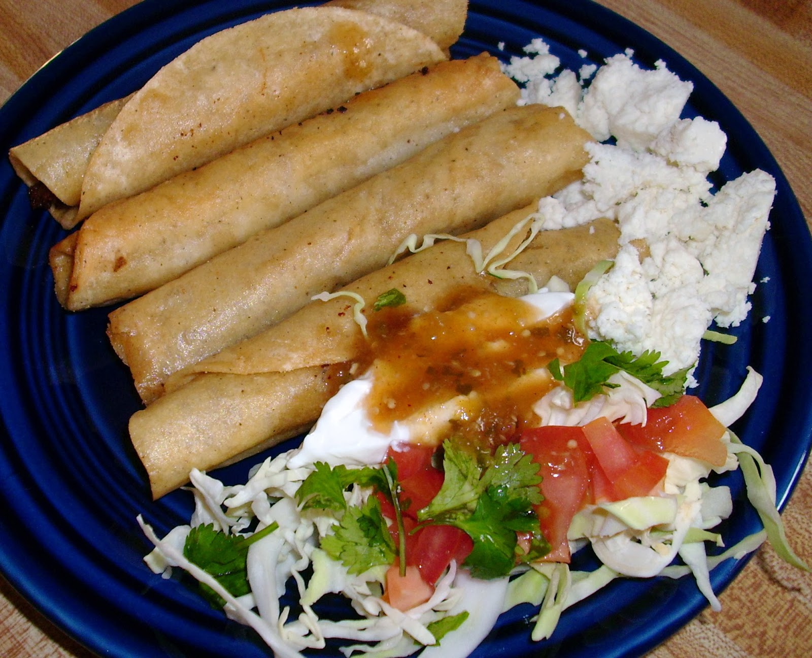 Flautas De Pollo With Salsa Verde All Roads Lead To The Kitchen