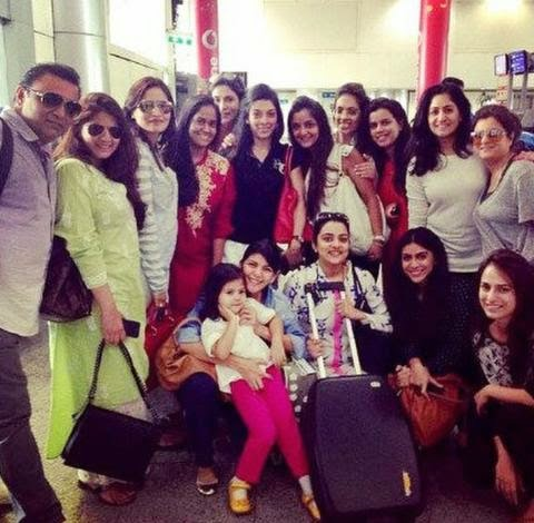 Arpita Khan's friends and family
