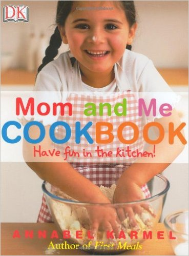 A cook book titled mom and me cook book