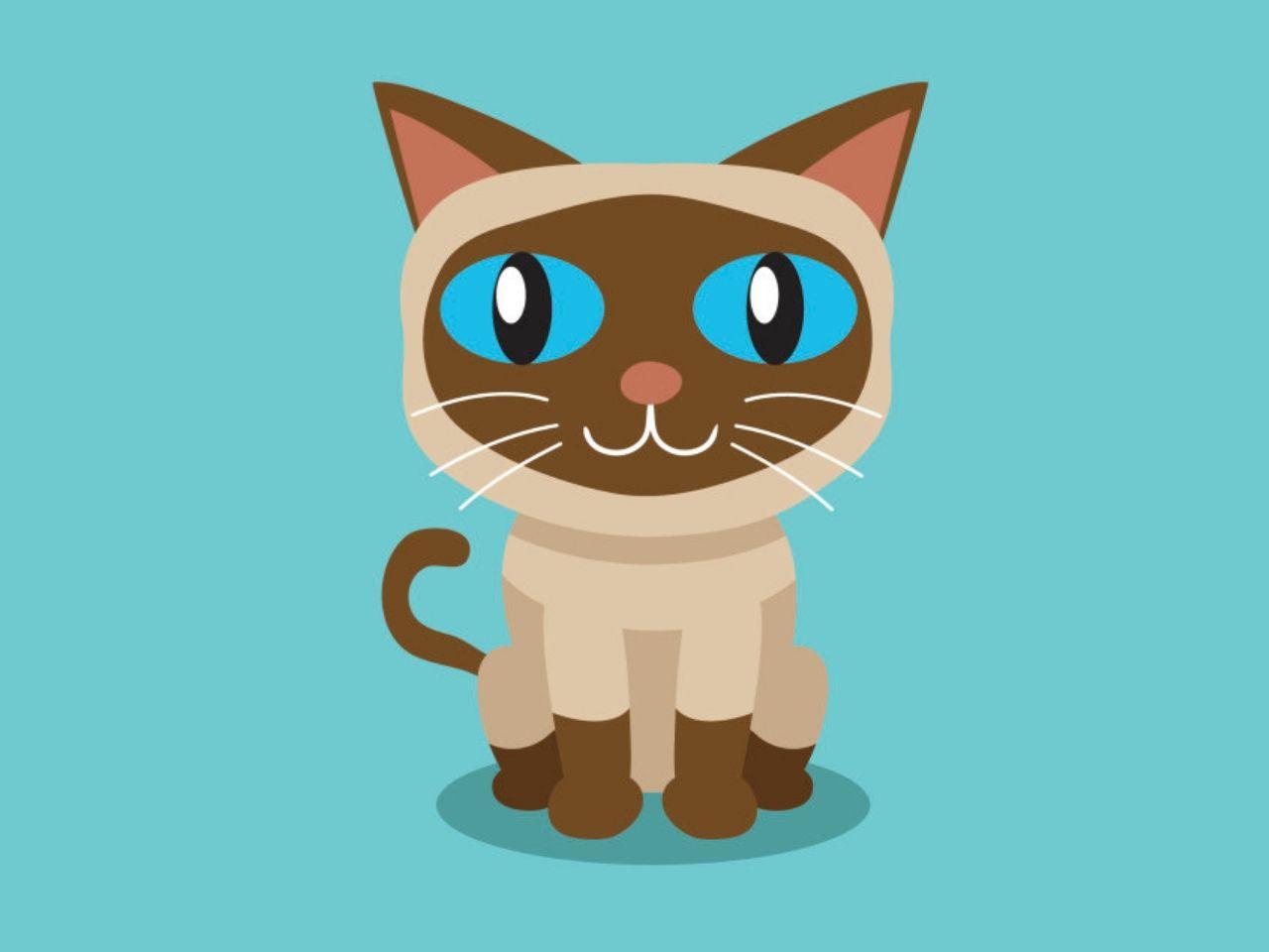 gambar kucing yang dilukis