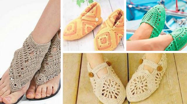23 Hermosos Zapatos a Crochet - Patrones para Descargar
