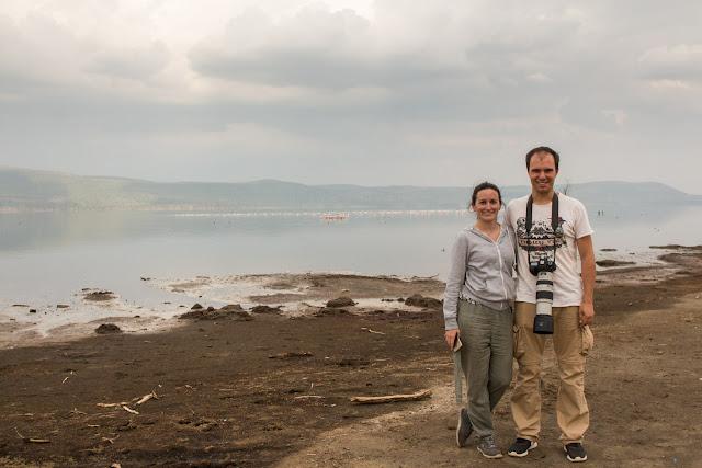 Al lado del lago Nakuru